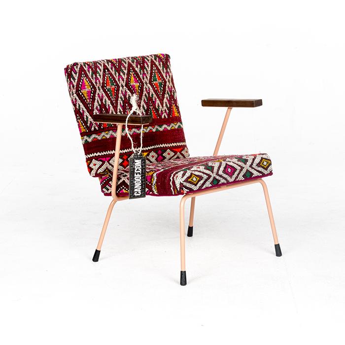 Canoof Gispen 415/1401 fauteuil Zalm