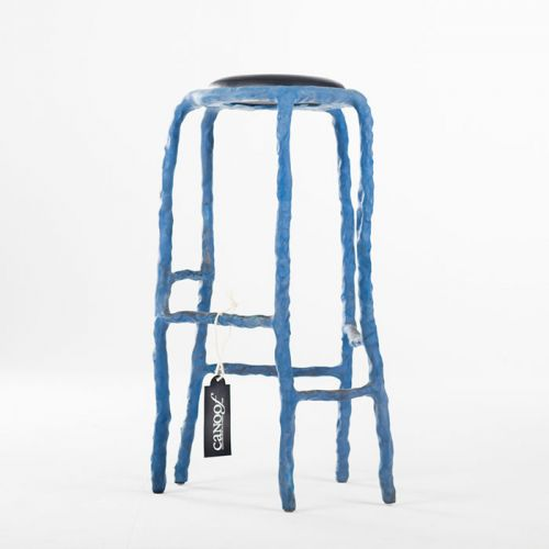Maarten Baas Plain Clay Bar Stool blauw