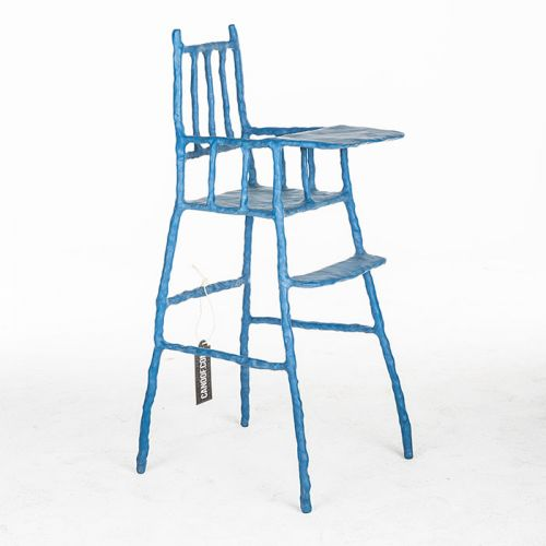Maarten Baas Plain Clay Childrens Chair blauw