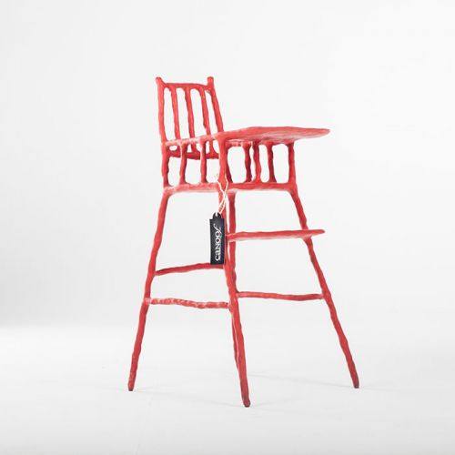 Maarten Baas Plain Clay Childrens Chair rood