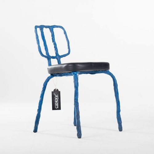 Maarten Baas Plain Clay Dining Chair blauw