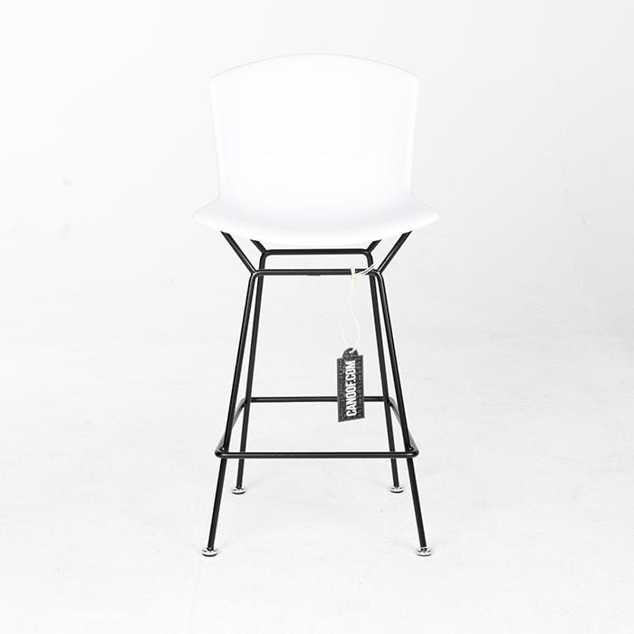 Knoll Bertoia Plastic Bar Stool hoog wit