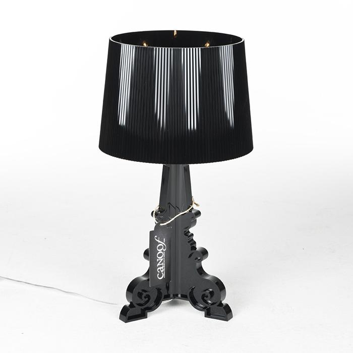 Kartell Bourgie Lamp Zwart Materiaal Kunststof Canoof Nl