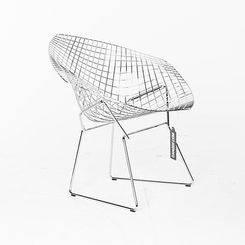 Knoll diamond armchair chroom