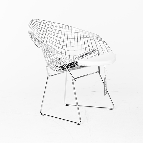 Knoll diamond armchair chroom