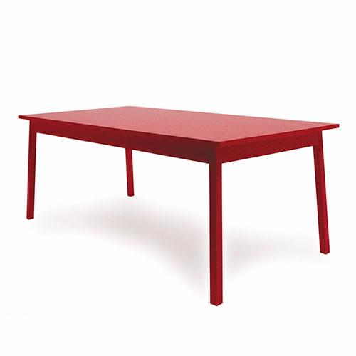 moooi avl shaker table rood 200cm