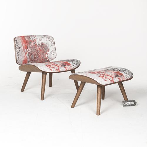 moooi nut lounge chair en footstool oil