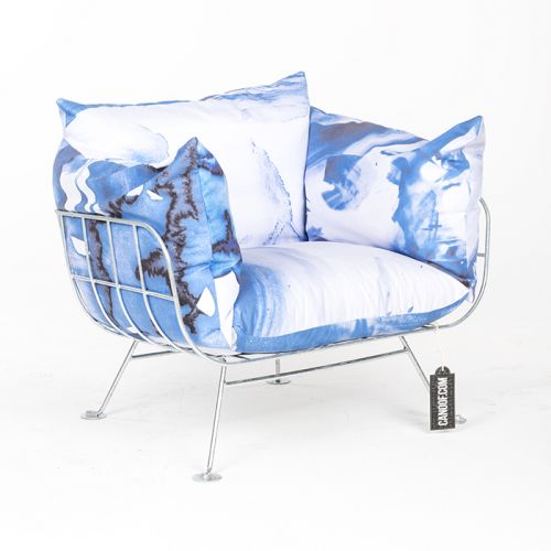 moooi nest fauteuil one minute blauw