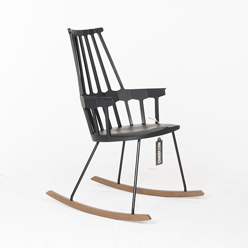 Kartell Comback zwart schommelstoel