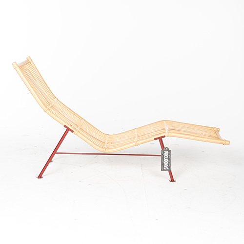 lensvelt cane divan rood