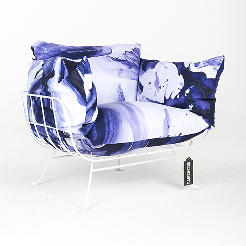 Moooi Nest Fauteuil One Minute Paars