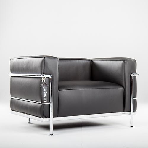 Cassina LC3 fauteuil zwart