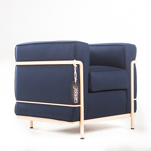 cassina lc2 fauteuil blauw