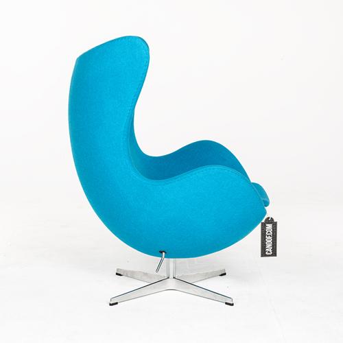 Fritz Hansen Egg Chair en Ottoman turqouise