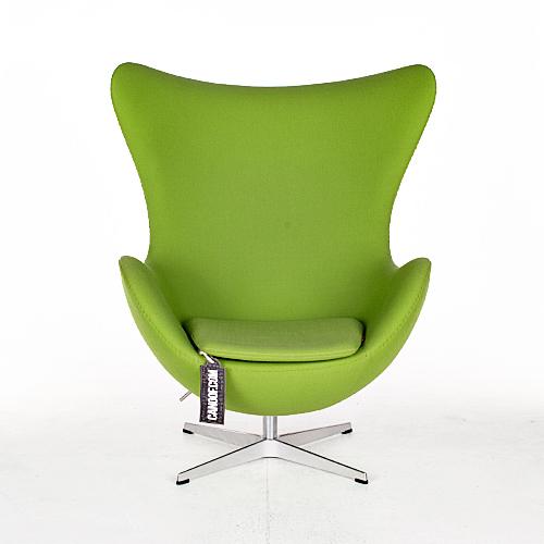 Egg Chair Stof.Fritz Hansen Egg Chair En Ottoman Turquoise Canoof Nl