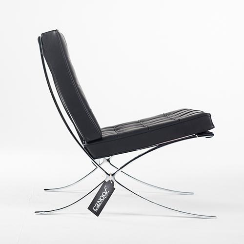 Barcelona Stoel Zwart Leer.Knoll Barcelona Chair Zwart Leder
