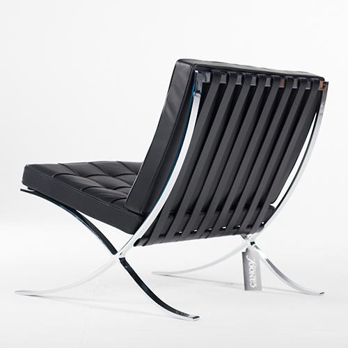 Terrific Knoll Barcelona Chair Zwart Leder Squirreltailoven Fun Painted Chair Ideas Images Squirreltailovenorg