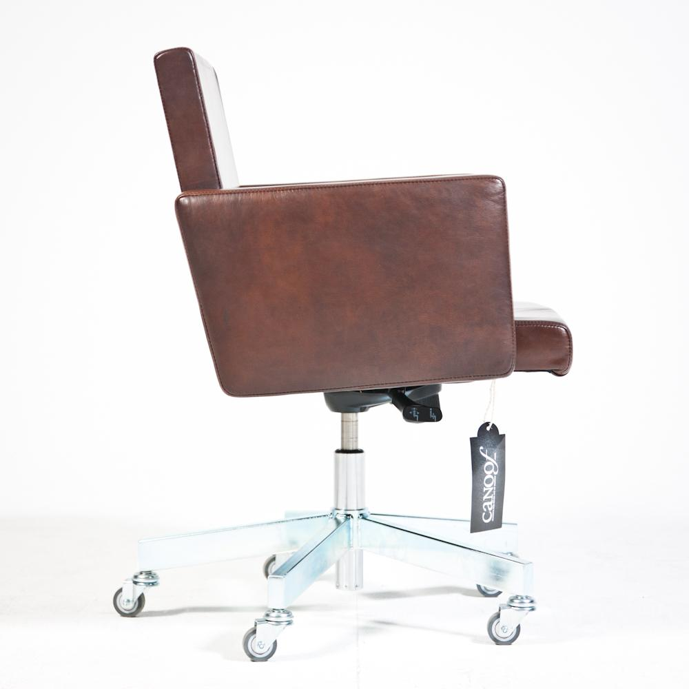 Lensvelt AVL Office Chair old saddle leder