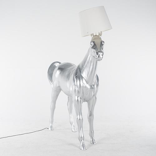 Moooi Horse Lamp silver