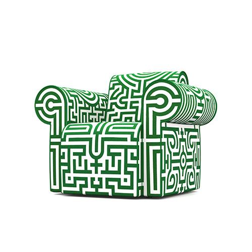 Moooi Labyrinth Chair groen