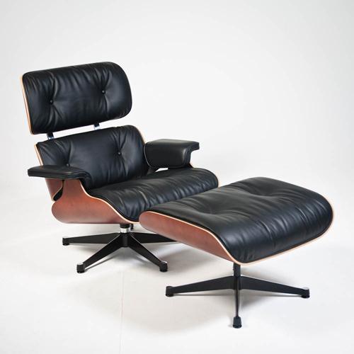 Vitra Eames Lounge Chair en Ottoman kersenhout
