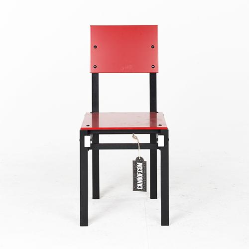 Rietveld Militaire stoel rood