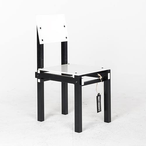 Rietveld junior kratstoel wit for Steltman stoel afmetingen