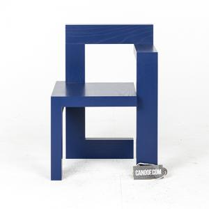 Rietveld Steltman stoel eikenhout blauw