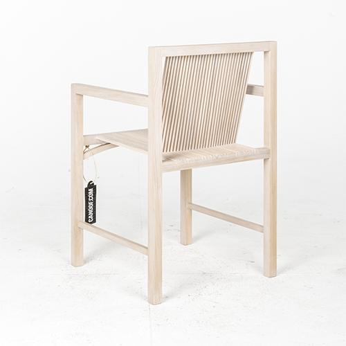 Spectrum Kokke stoel armleuningen white wash