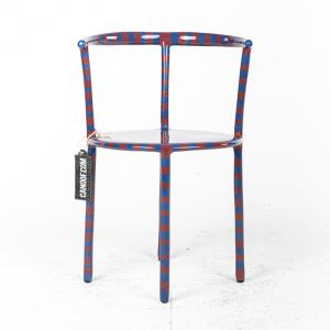 maarten baas striped clay chair blauw rood