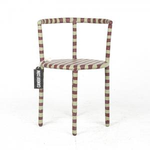 maarten baas striped clay chair groen rood