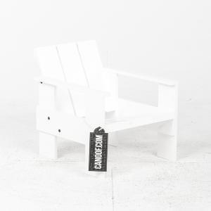 rietveld junior kratstoel wit