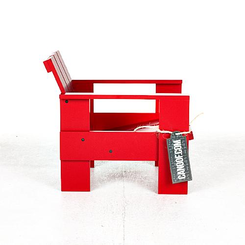 rietveld junior kratstoel rood