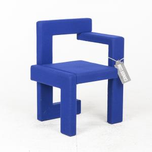 rietveld steltman stoel vilt blauw