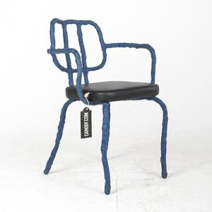 Maarten Baas Plain Clay Dining Chair Arm blauw