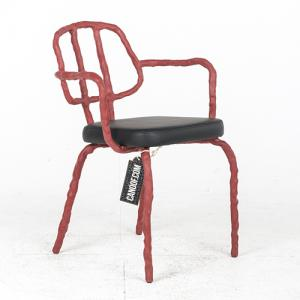 Maarten Baas Plain Clay Dining Chair Arm rood