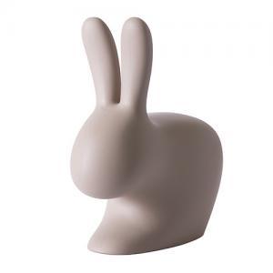 qeeboo rabbit chair grijs bruin