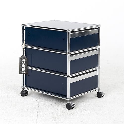 Usm haller ladenblok 3 laden kleur blauw vintage for Ladenblok klein