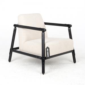vroonland pin lounge fauteuil beige zwart
