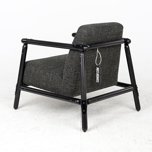 vroonland pin lounge fauteuil grijs zwart