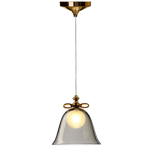 moooi bell lamp gold smoke