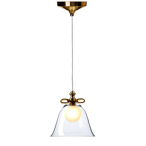 moooi bell lamp small gold transparant
