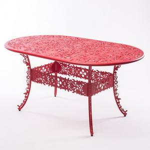 seletti industry tafel ovaal rood