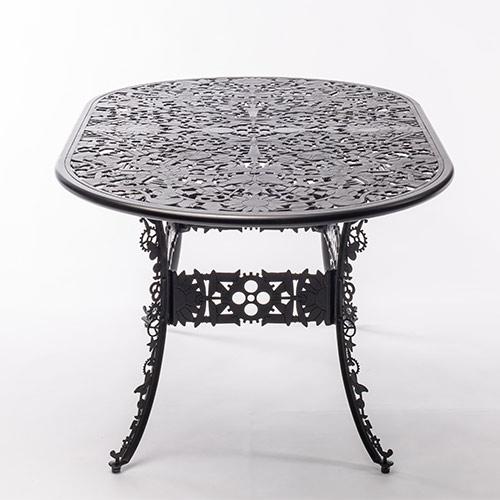 seletti industry tafel ovaal zwart
