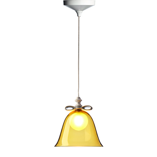 moooi bell lamp small white amber