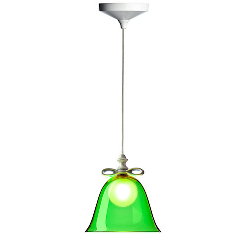 moooi bell lamp small white green
