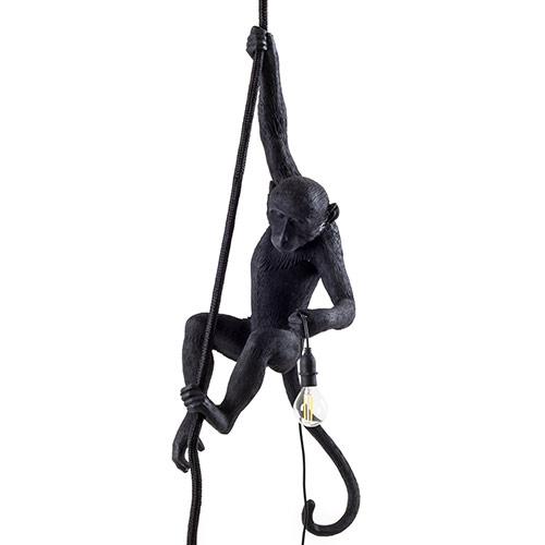 seletti aap lamp zwart hangend plafondlamp