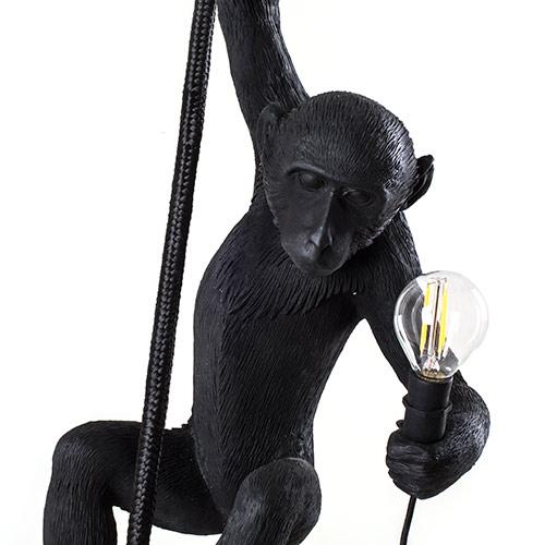 seletti aap lamp zwart hangend plafond