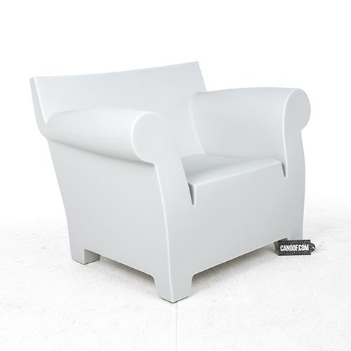 kartell bubble club fauteuil lichtgrijs