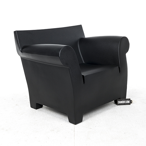 kartell bubble club fauteuil zwart materiaal kunststof. Black Bedroom Furniture Sets. Home Design Ideas
